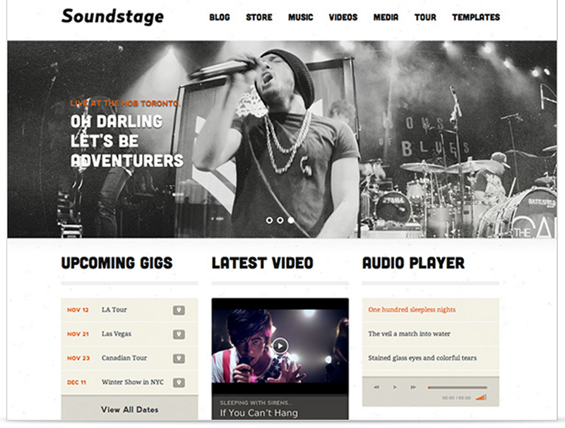 WordPress Theme Soundstage