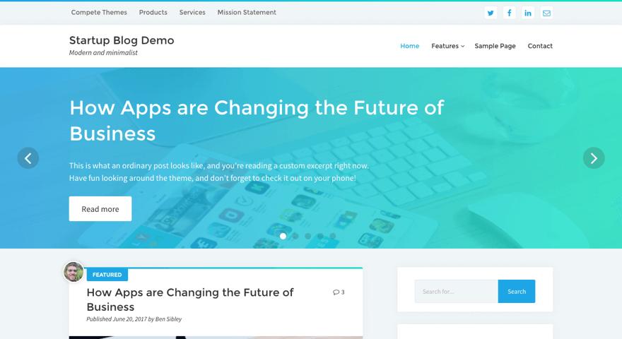 WordPress Theme Startup